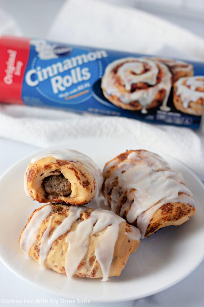 Cinnamon Roll Wrapped Breakfast Sausage