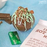 Andes Mint Hot Cocoa Bombs are perfect for all of the mint chocolate chips lovers. These are full of chocolate, marshmallows and real Andes Mint chocolate.