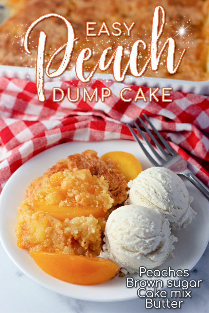 Easy Peach Dump Cake on Pinterest.