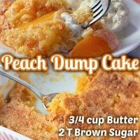 Peach Dump Cake