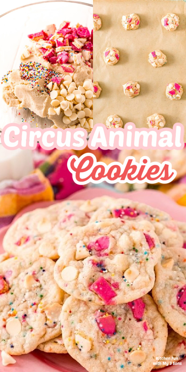 A plate full of Circus Animal Cookies