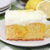 Lemon Poke Cake Feature