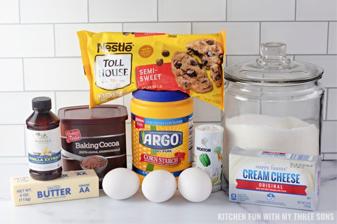 ingredients to make Homemade Cheesecake Brownies
