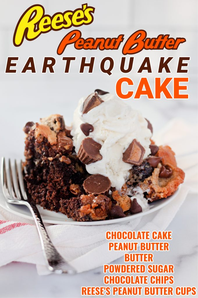 Reeseova zemljotresna torta od kikirikija na maslacu na Pinterestu.