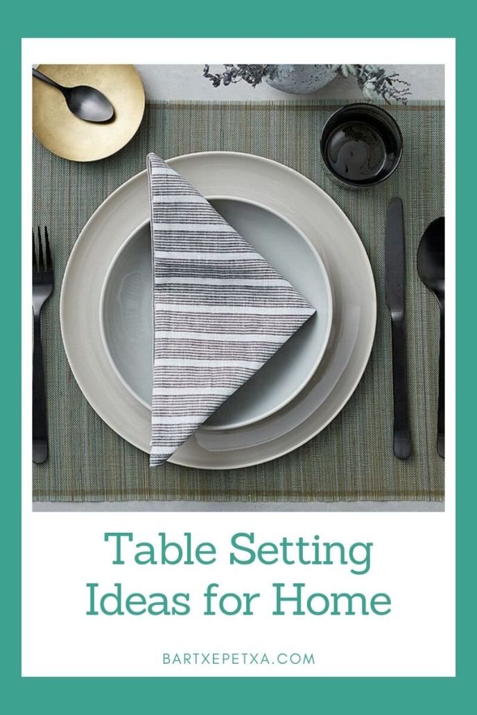 Table Setting Ideas for Home