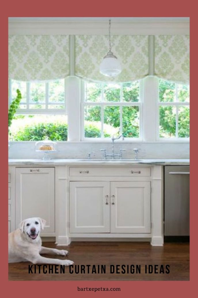 how to make kitchen curtain