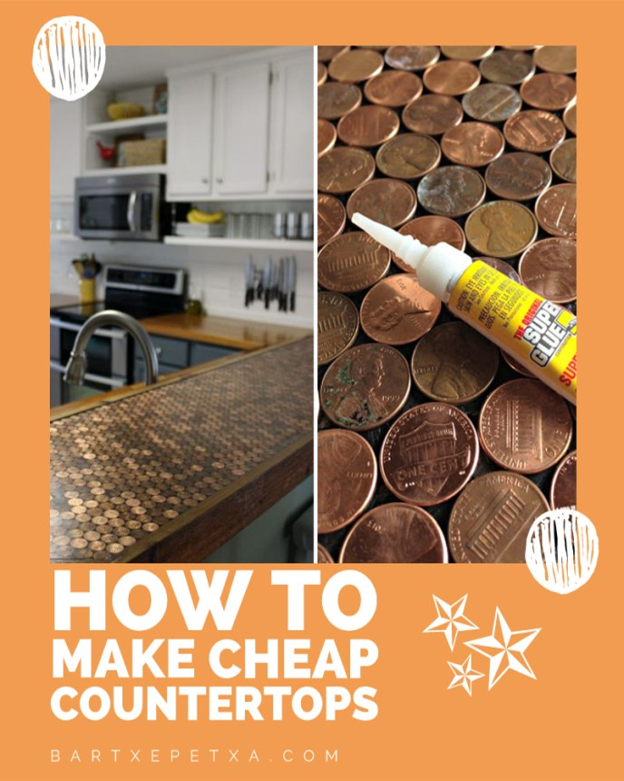 How to make cheap countertops
