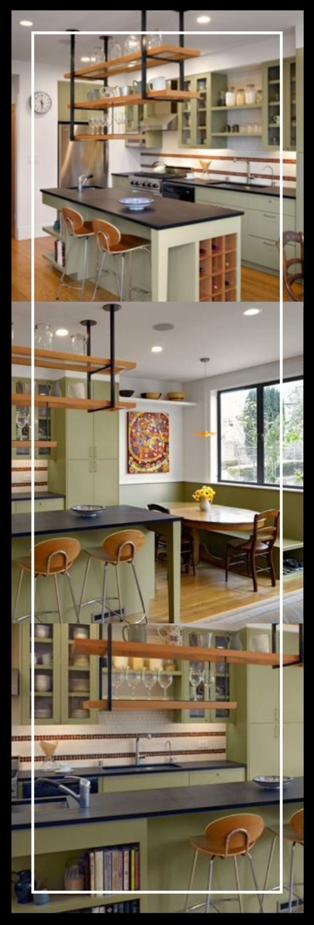 kitchen ideas for island with high sides