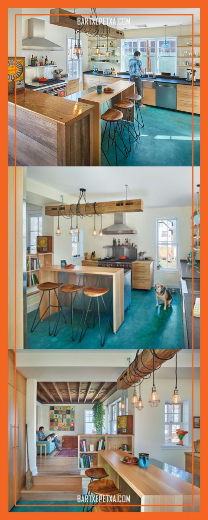 u shaped kitchen remodel before and after
