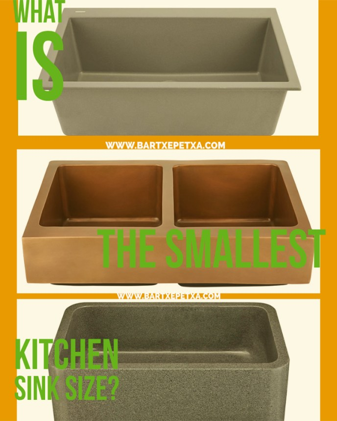 What is the smallest kitchen sink size?