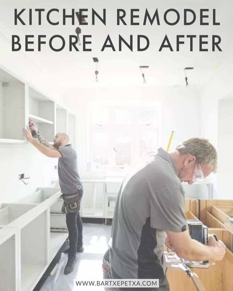 Kitchen Remodel Before and After (Trendy Look and Updated Style)