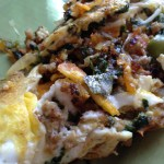 Vegetable and ground turkey omelet