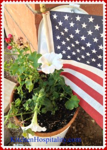 July 4th, 2015 Flag, Flowers, and Food