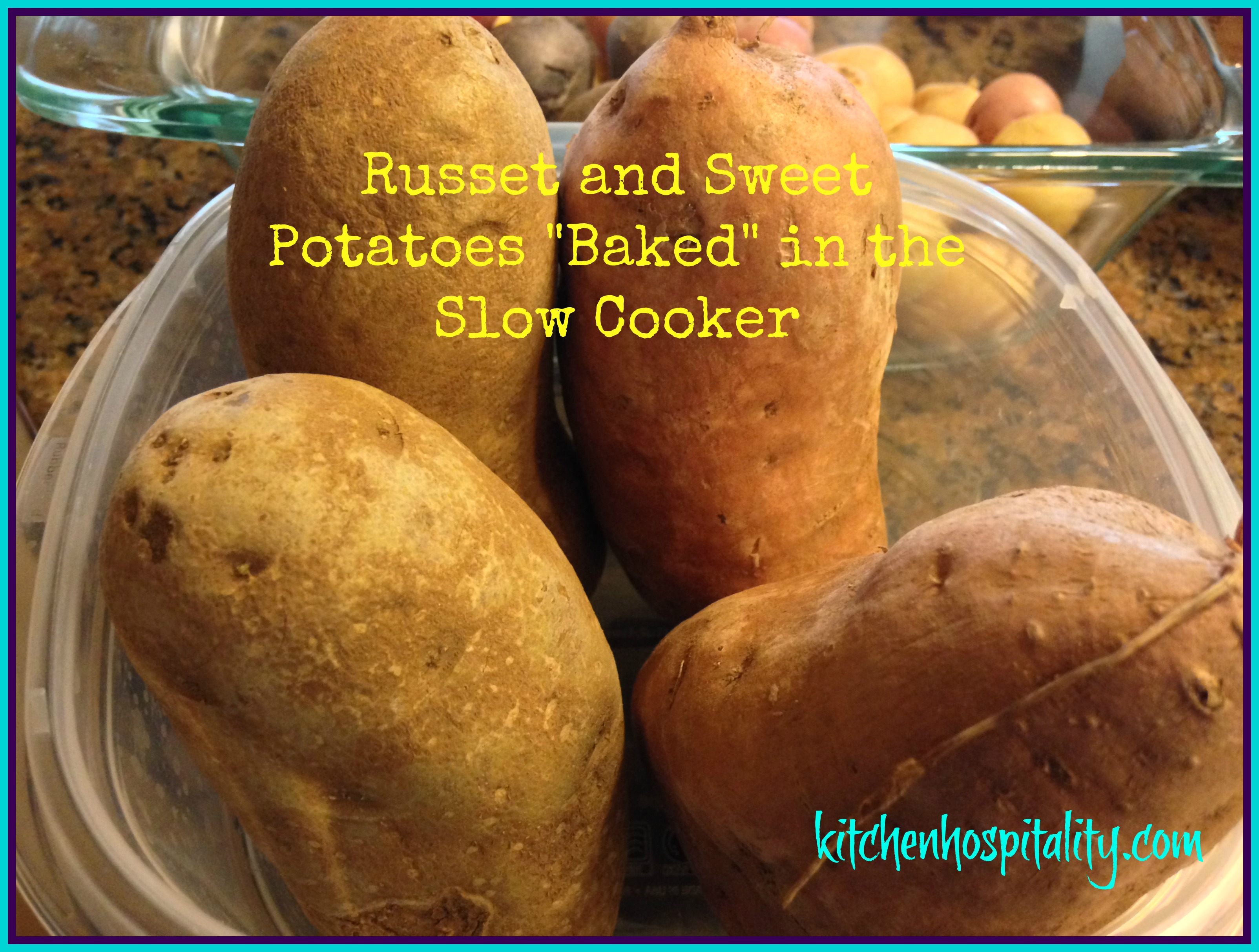 Slow Cooker Russet and Sweet Potatoes