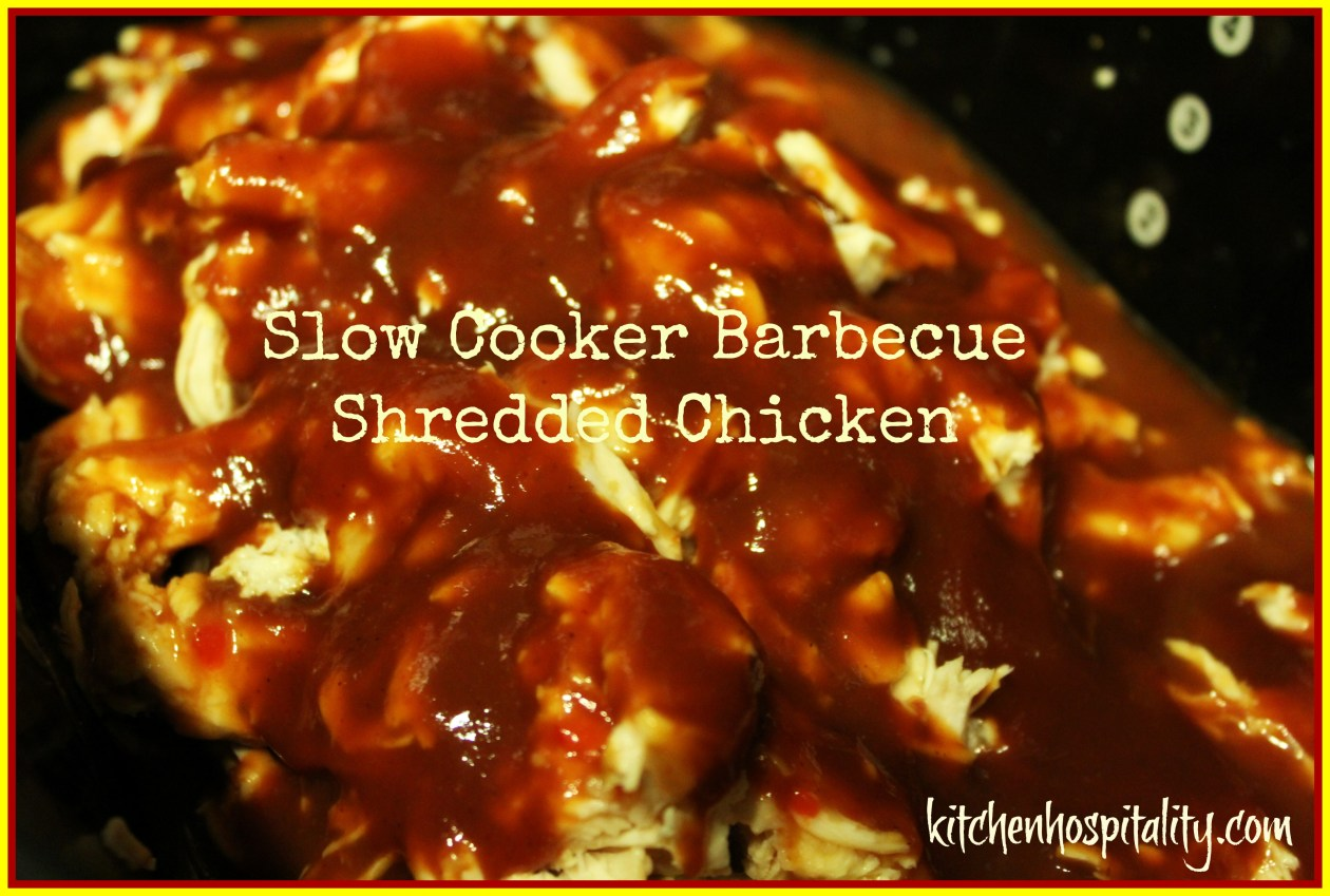Slow Cooker Barbecue Shredded Chicken