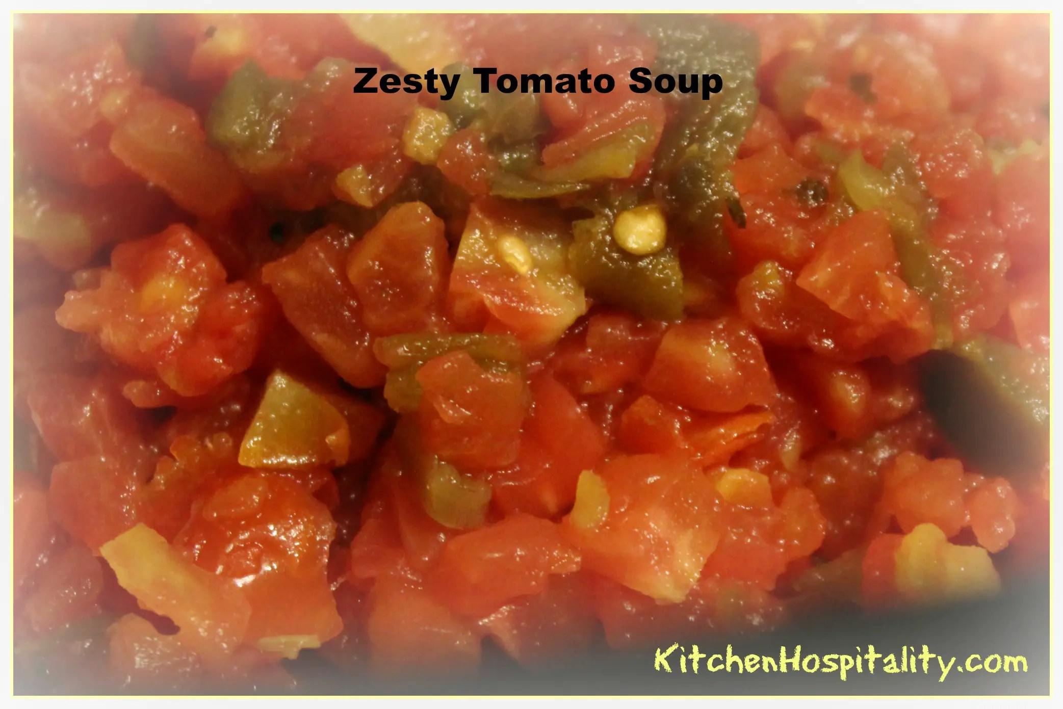 Slow Cooker Zesty Tomato Soup