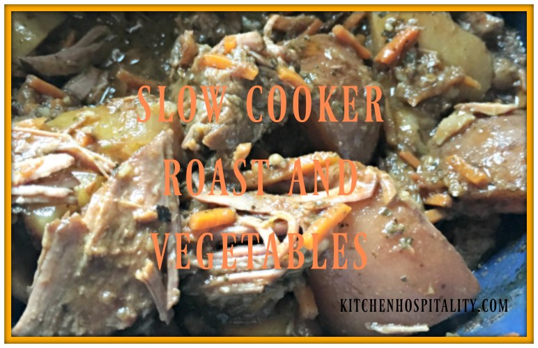 Slow Cooker Shredded Roast with Vegetables
