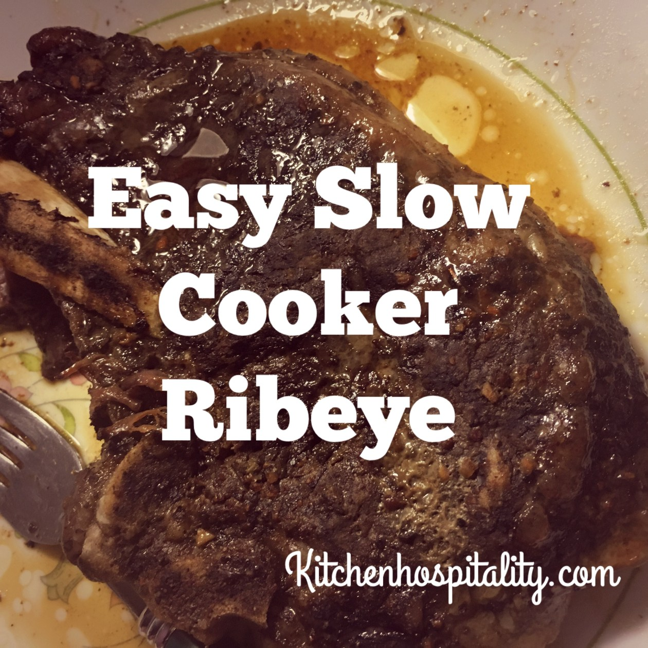 Slow cooker ribeye
