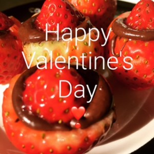 Chocolate-Filled Strawberry Buttons