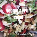 A Good Friday Vegetable & Fruit Salad Recipe for Two
