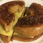 National Grilled Cheese Day – a Vegan Cheese Bagel