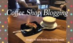 Almond Raspberry Scone and Lavender Coffee - Blogging at a Coffee Shop