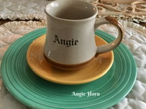 "Cup with name ""Angie"""