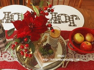 Red kitchen table decor