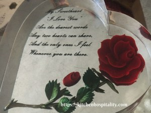 Valentine glass heart