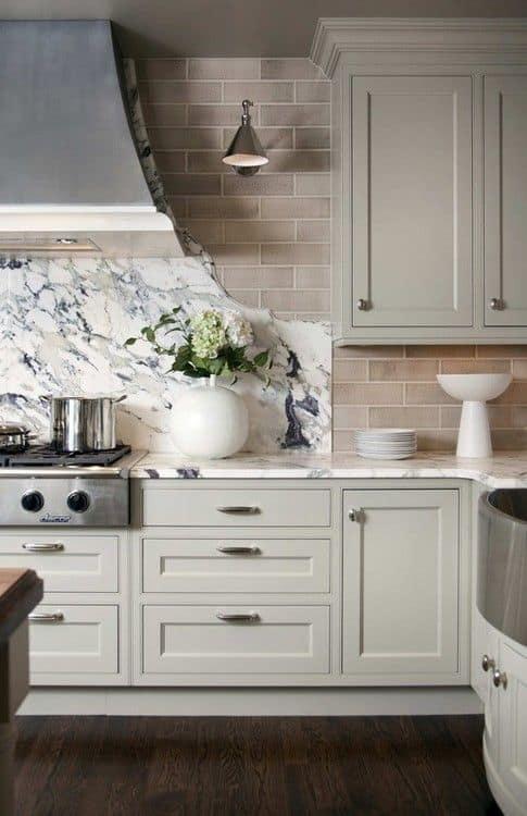 granite backsplash pros cons between