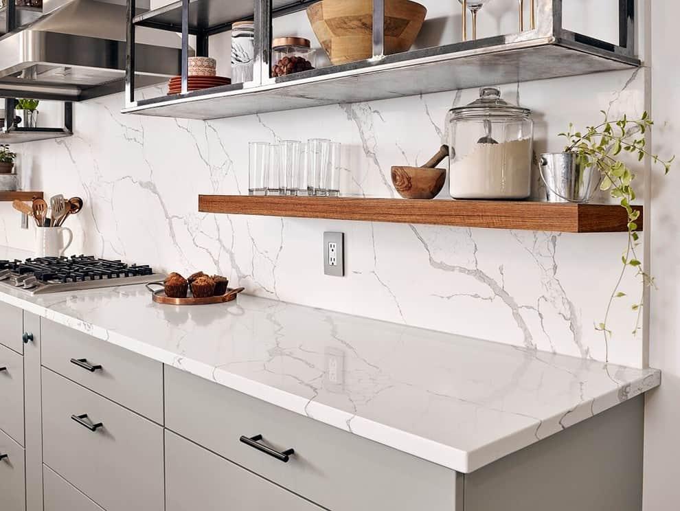 quartz backsplash pros and cons