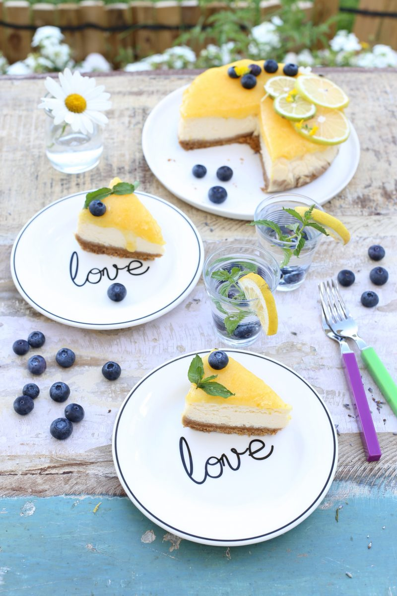 Limonlu Light Cheesecake