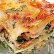 Lasagne met zalm en spinazie