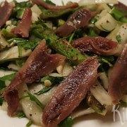Salade met venkel, asperges en ansjovis
