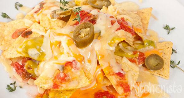 Nacho's met gehakt en kaas uit de oven