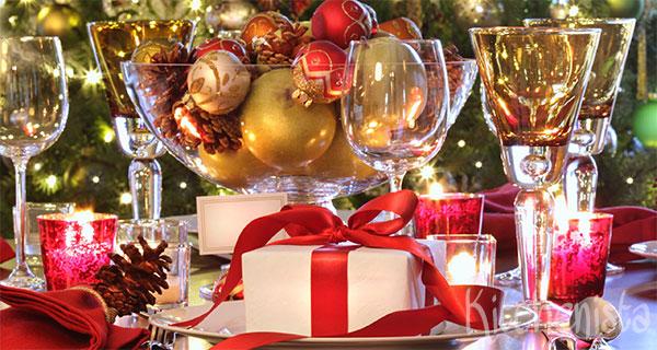 Het meergangen kerstdiner