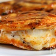 Spicy kip met mozzarella