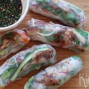 Vietnamese springrolls met makreel