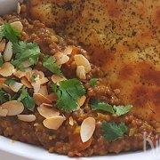 Linzencurry (dahl) met naan
