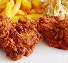 Crispy fried chicken (krokant gefrituurde kip)