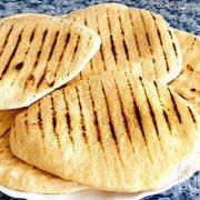 Griekse pita's (in de grillpan gebakken)