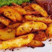 Gekruide aardappelwedges uit de oven