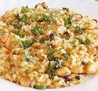 Risotto met gemengde zeevruchten en saffraan