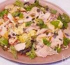 Aardappelsalade met gerookte forel en harissa