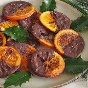 Sinaasappel en chocolade candy met specerijen