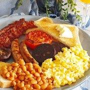 Compleet Engels ontbijt (full English breakfast)
