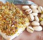 Zalm met een krokant korstje van pistachenoten