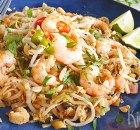 Pad Thai – Thais wokgerecht met garnalen, ei en pinda's