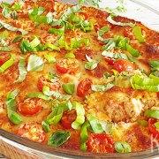 Caprese kip met quinoa of zilvervliesrijst ovenschotel