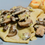 Mushroom and Leek Pasta with Garlic Bruschette